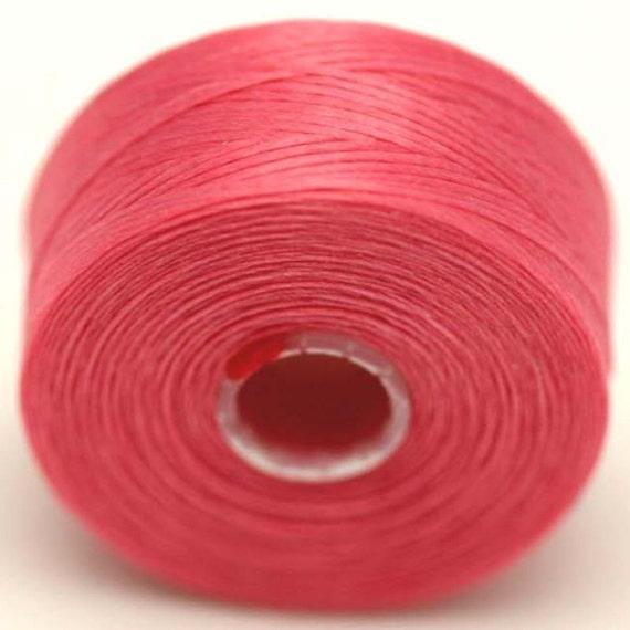pink c lon seed bead thread size d 2 bobbins