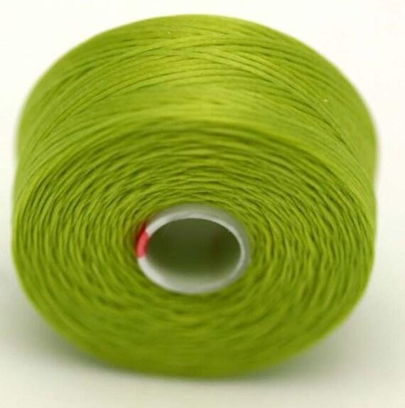 chartreuse c lon seed bead thread size d 2 bobbins