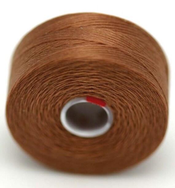 Light Brown C-Lon seed bead thread 2 Bobbins size D