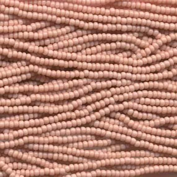 Cheyenne Pink Opaque 6/0 Czech Seed Beads Small Hank six  20 inch Strands
