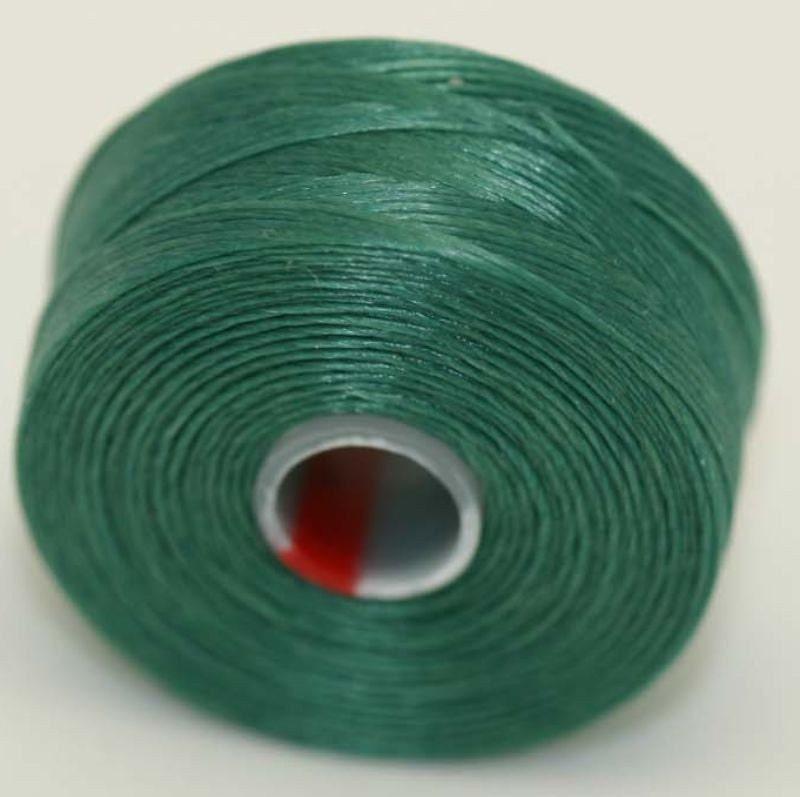 c lon sea foam green seed bead thread size d 2 bobbins