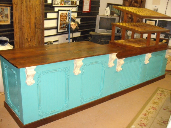 vintage retail counter retail counter cabinet cupcake shop bar 3253