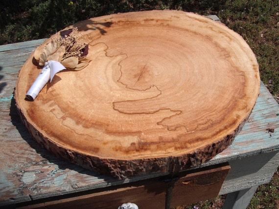 Large Log End Slice for Woodland Weddings