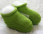 Luxury Baby Booties - Lime Green