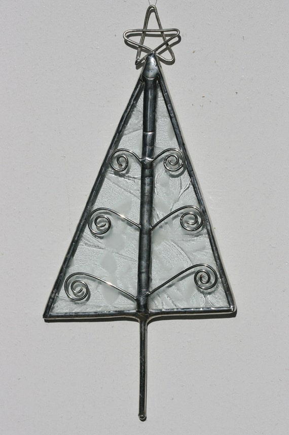 Stained Glass Tree Ornament for Christmas FROSTY ICE