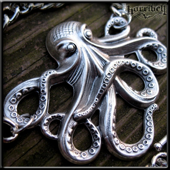 OCTOPUS Necklace- Old Sea Legs with CHUNKY Chain