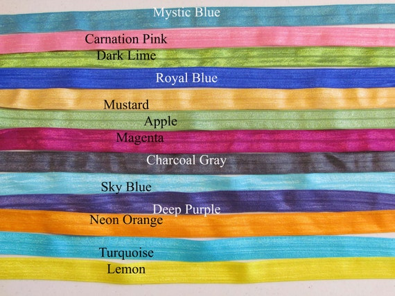 Choose 10 Shimmery Satin Stretch Skinny Elastic interchangeable headbands newborn baby toddler girl teen adult