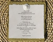 Sand Dollar and Mulberry Handmade Paper Bridal Shower Invitations BEACH Wedding