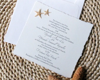 Starfish Wedding Invitations  Real Florida Starfish Invitations For Beach  Wedding