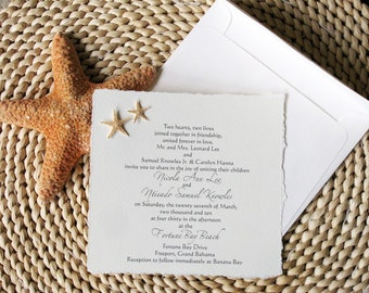 Real Starfish Invitations for Gay or Lesbian Beach Wedding