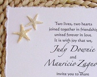 BEACH WEDDING---Real Florida Starfish Invitations