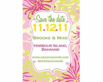 Save the Date Magnets--for the Lilly Pulitzer lover