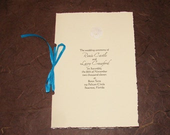 BEACH Wedding-Sand Dollar Ceremony Program