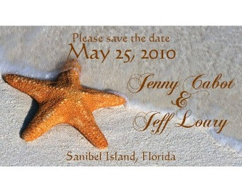 Save the Date Magnets-STARFISH-perfect for beach wedding -FREE PROOFS