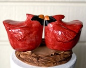 Cardinal Love Bird Cake Topper
