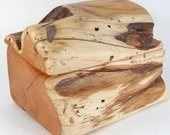 Native Pacific Yew Wooden Box, traditional wedding anniversary, eco home, handcrafted wooden jewelry organizer