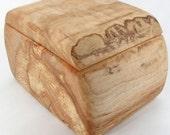 Handcrafted Maple Wood Box, Wooden Jewelry Box, Desk Organizer, Home Decor, Fifth Wedding Anniversary
