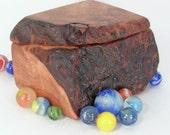 Natural Redwood Burl Box, salvaged wood, small memory box, rustic keepsakes box