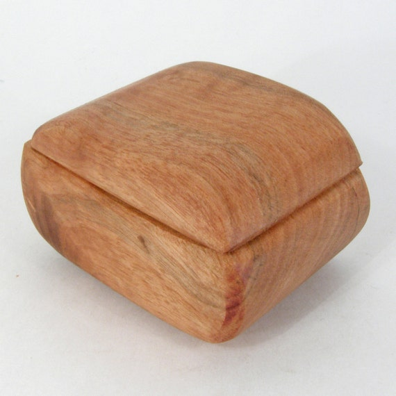 Little Butternut Wood Box, eco friendly earring box, nature lovers gift, engagement ring box, wood grain