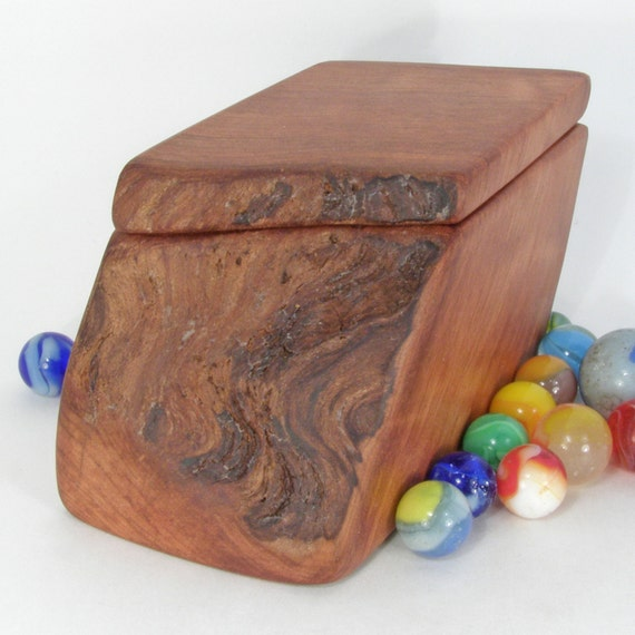 Sustainable Redwood Burl Box, office desk organizer, traditional wedding anniversary, jewelry, wood grain