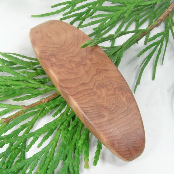 Medium California Birds Eye Redwood Wood Hair Clip, wooden hair accessory, eco friendly wood jewelry, made in the usa
