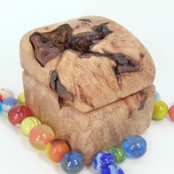 FOR Marie Montalbano ONLY -Rustic Maple Burl Wooden Box, made in Oregon, keepsakes box, outdoor wedding, ring bearer, engagement ring box