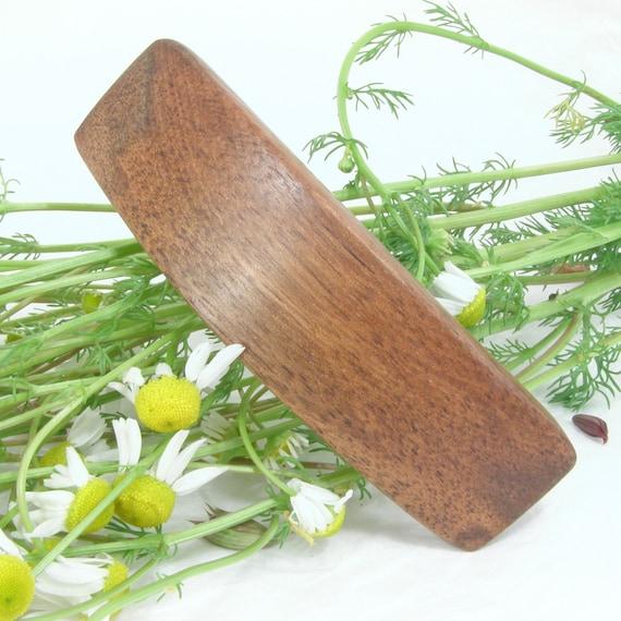 Small Black Walnut Hair Clip, wooden hair accessory, wood barrette, lifetime guarantee, wood jewelry