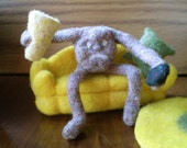 Reserved for Marla -Couch potato set - Needle felted