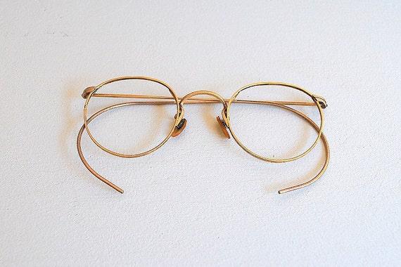 Gold Filled Eyeglass Frames : Vintage 1920s EYEWEAR / 10K gold filled by ...