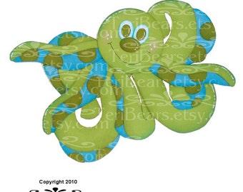 octopus paper piecing pattern by TeriBears-(TeriCritterz)