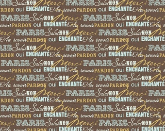 SALE Paris & Company Collection by Carina Gardner for My Minds Eye - Words in Brown