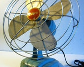 vintage fan ZERO electric robins egg blue