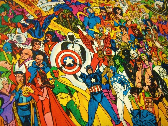 Vintage 80s Marvel Superhero Jigsaw Puzzle 300 Pieces