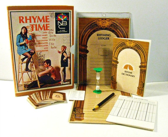 vintage game - Rhyme Time - word game - Hasbro - 1960s