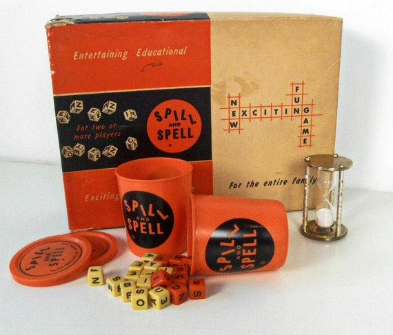 ON SALE vintage Spill and Spell word game - 1957