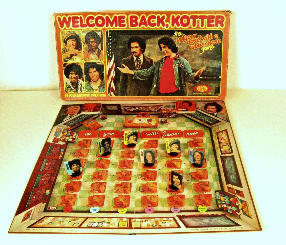 vintage welcome back kotter board game 1970s. Black Bedroom Furniture Sets. Home Design Ideas