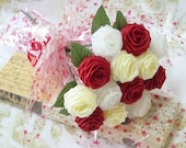 Origami Romantic Rose Bouquet (12 Roses Qty. Gift Wrapped), Anniversay Gift, Valentines day gift, Party favors
