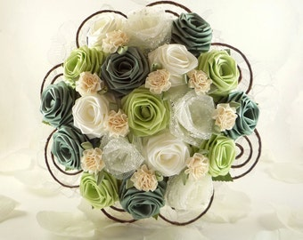 Green Fields, Wedding Bouquet, Bridal Bouquet, Rustic Wedding, Woodland Bouquet, Origami Wedding Flowers, Rose bouquet, Rustic Bouquet