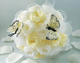 Wedding Bouquet, Bridal Bouquet - Whimsical Butterfly Bouquet, Flower Bouquet, Summer Weddings, Butterfly Bouquet