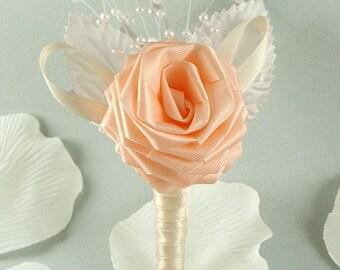 Vintage Victorian, Origami Rose Boutonniere - Groom boutonniere, Groomsmen boutonniere, Rose Boutonniere, Wedding Boutonniere