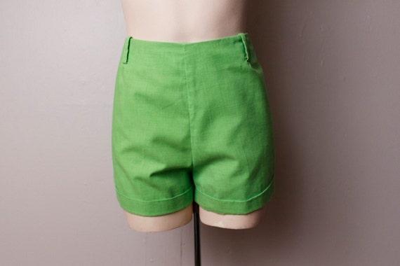Vintage 1960's Lime Green Shorts Medium