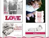 modern sweetheart bundle - 4 5x7 templates for photographers.