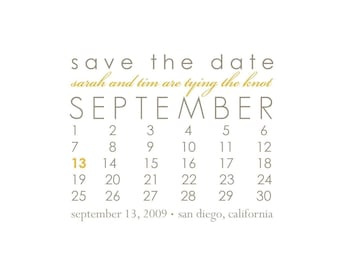save the date, modern save the date, simple save the date, save the date postcard - simple calendar