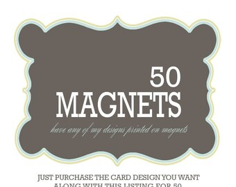 magnet invitations announcement and invitation printing - 50  4x5.5 magnets