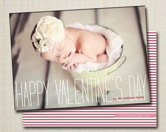 custom valentine's day photo card - skinny.
