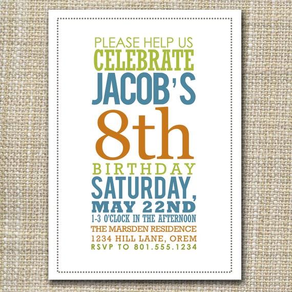 custom birthday invitation - bold birthday.
