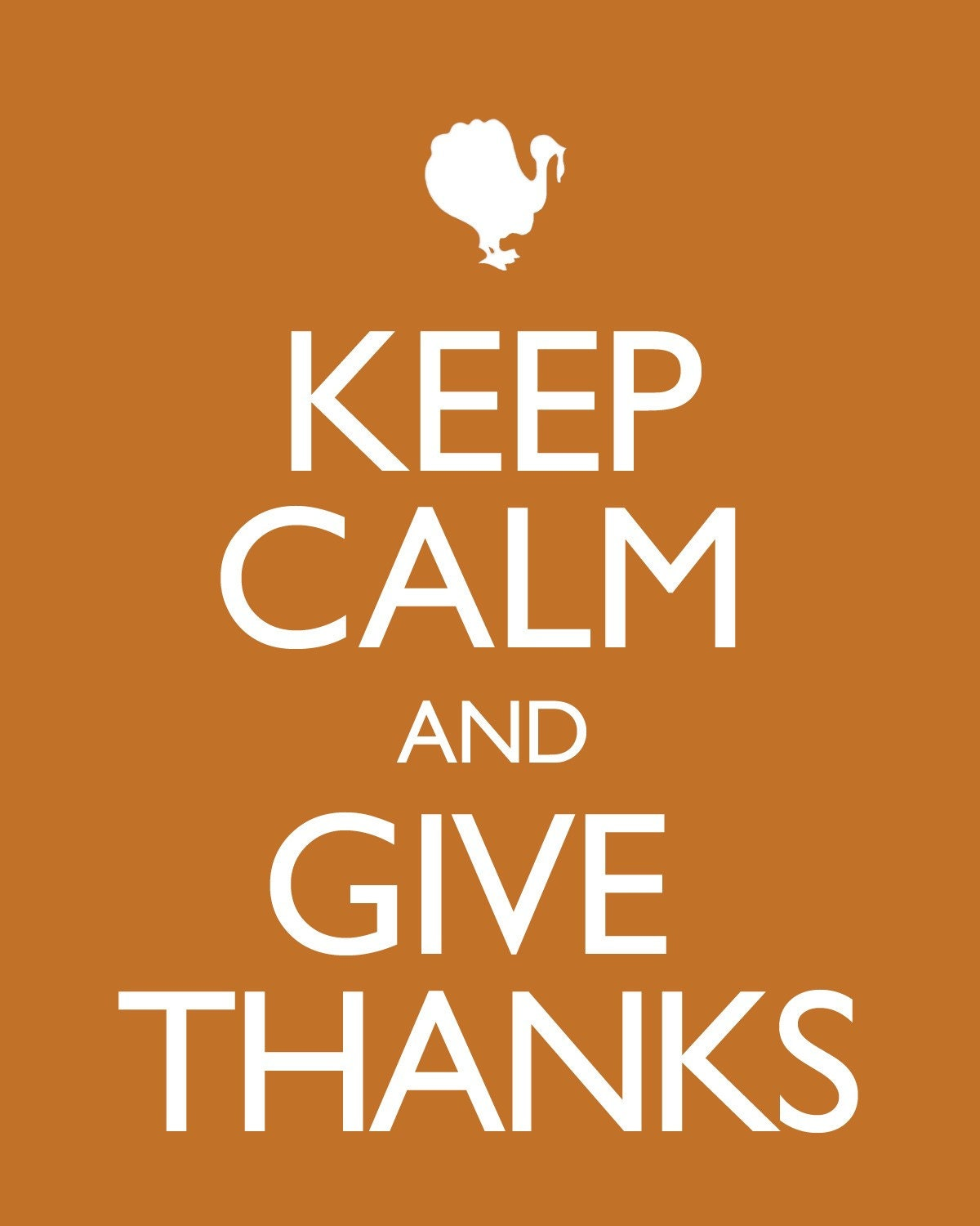 Bogo Sale Keep Calm And Give Thanks Thanksgiving Poster
