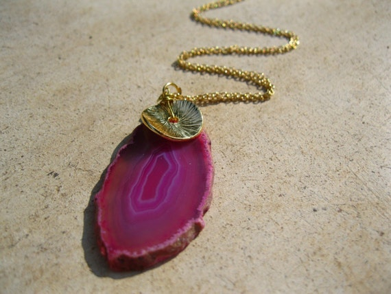haute and pink, agate, the statement necklace - Free USA Shipping
