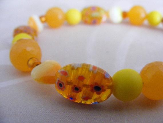 Summery Orange and Yellow Bracelet