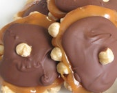 Hazelnut Caramel Chocolate Turtle Clusters 2 Clusters